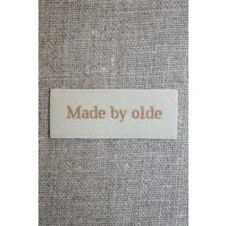 """Beige mærke """"Made by olde""""-20"""