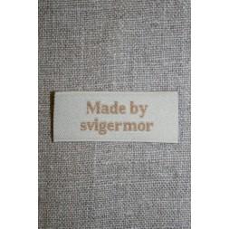 """Beige mærke """"Made by svigermor""""-20"""