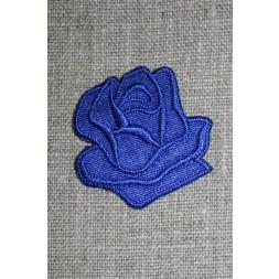 Motiv m/rose, koboltblå-20