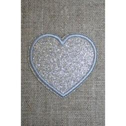 Motiv i sølv, hjerte 50 mm.-20