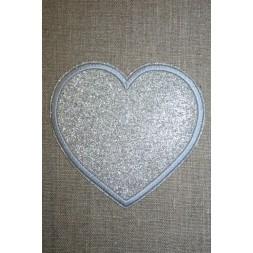 Motiv i sølv, hjerte 95 mm.-20