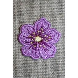 Strygemærke m/blomst lilla/gul-20