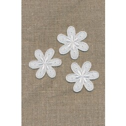 3 blomster, hvid-20