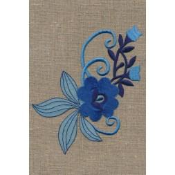 Motiv med blomst i blå-20