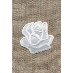 Motiv m/rose, hvid-20