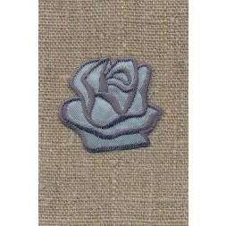 Motiv m/rose, grå/sølv-20