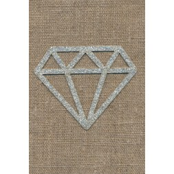 Strygemærke m/Diamant, sølv-20