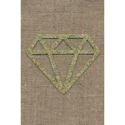 Strygemærke m/Diamant, guld-20