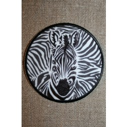 Rundt strygemærke zebra-20