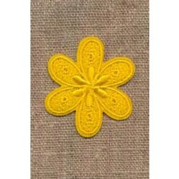 Motiv med blomst i gul-20