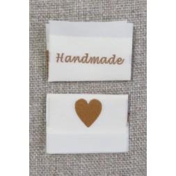 """Offwhite mærke """"Handmade/hjerte""""-20"""