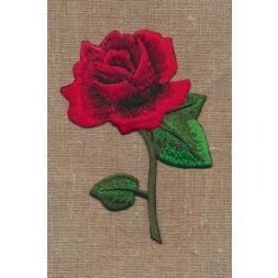 Motiv med stor rose i rød-20