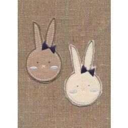 Strygemærke med kanin 2 stk.-20