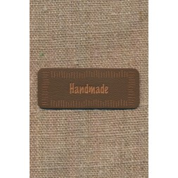 "Motiv i læderlook i brun ""Handmade""-20"