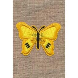 Strygemærke med gul og sort Sommerfugl-20