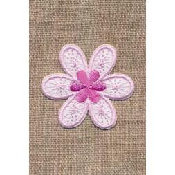Motiv med blomst i lyserød og hvid-20