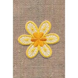 Motiv med blomst i gul og hvid-20