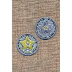 2 cirkler med stjerner i denim-20