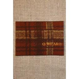 Mærke ternet Q-wear, brun-20