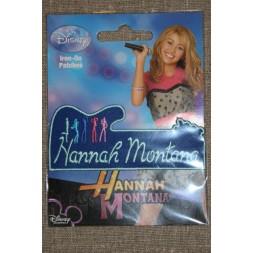 Strygemærke Hannah Montana, navn blå-20