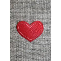 Strygemærke rødt hjerte, 28x22 mm.-20