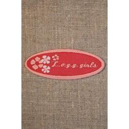 Rød/lyserød logg girls-20