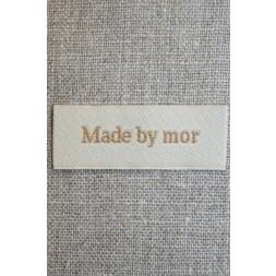 """Beige mærke """"Made by mor""""-20"""