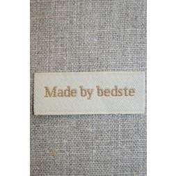 """Beige mærke """"Made by bedste""""-20"""