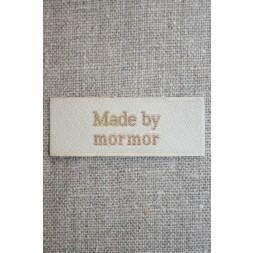 """Beige mærke """"Made by mormor""""-20"""