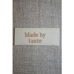 """Beige mærke """"Made by tante""""-20"""