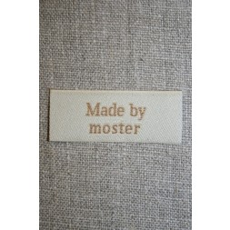 """Beige mærke """"Made by moster""""-20"""