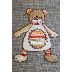 Mærke sjov bjørn, beige/off-white/orange-20