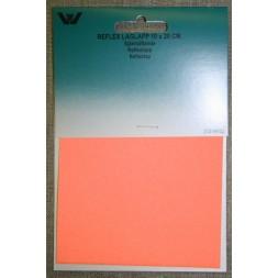 Lap reflex 10x20 cm. orange-20