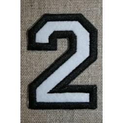 Strygemærke m/tal sort/hvid, 2-20