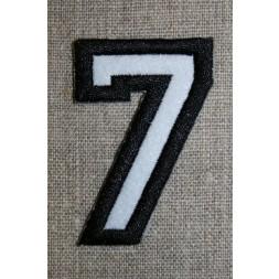Strygemærke m/tal sort/hvid, 7-20