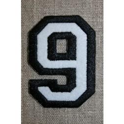 Strygemærke m/tal sort/hvid, 9-20
