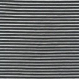Kraftig bomuld/polyester stribet i sort og hvid-20