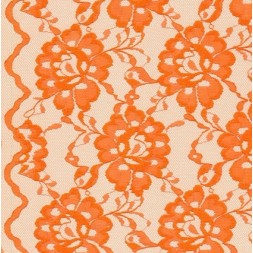 Blonde viscose/polyester m/buet kant, mørk orange-20