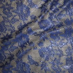 Rest Blonde blå med sølv lurex, 75 cm.-20