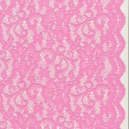 Strækblonde med buet kant i lyserød-20