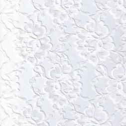 Blonde viscose/polyester m/buet kant, hvid-20