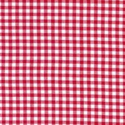 Bomuld ternet hvid/rød 5x5 mm.-20