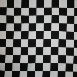 Bomuld hvid-sort med målflags tern-20