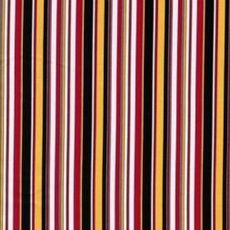 Rest Stribet bomulds-poplin, sort/hvid/rød/gul, 90 cm.-20