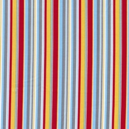 Stribet bomulds-poplin, grå/hvid/rød/gul-20