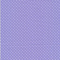 Bomuld m/hvide små prikker, lyselilla-20