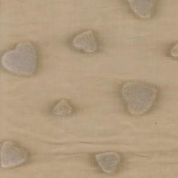 Bomulds-batist beige m/flock-hjerter-20
