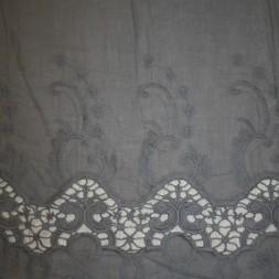 Let grå bomuld m/bordure/broderi-20
