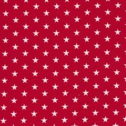 Bomuld m/stjerner, rød/hvid-20