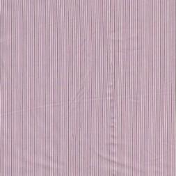 Stribet bomuld m/stræk rosa/oliven/hvid-20